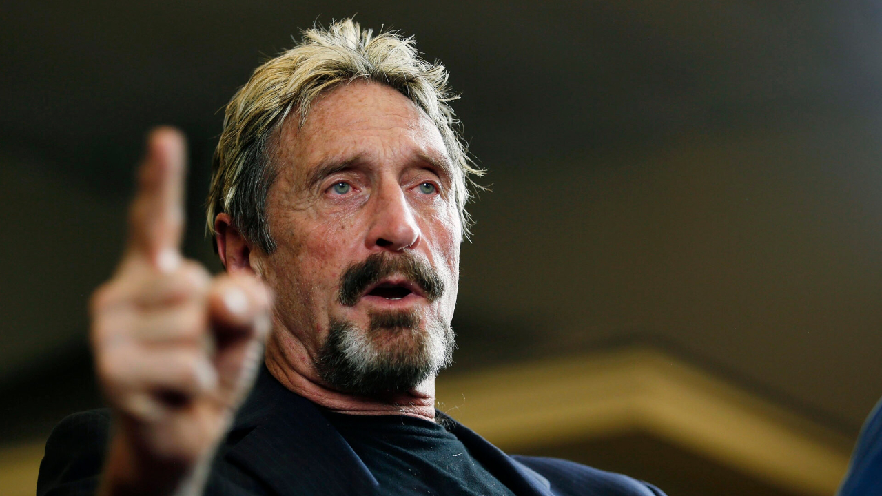 John McAfee Says the Feds Seized All His Assets: 'I Have No Hidden Crypto, I Have Nothing, I Regret Nothing'