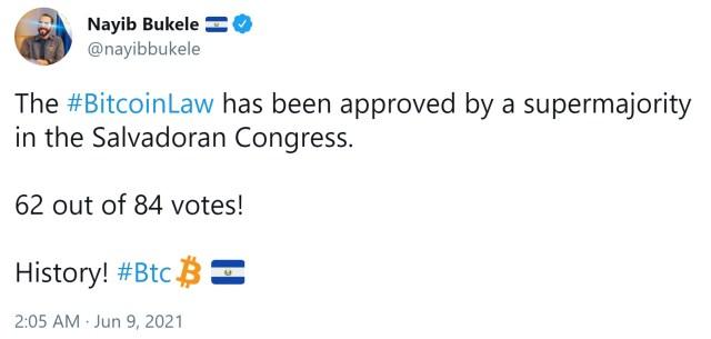 El Salvador passed the