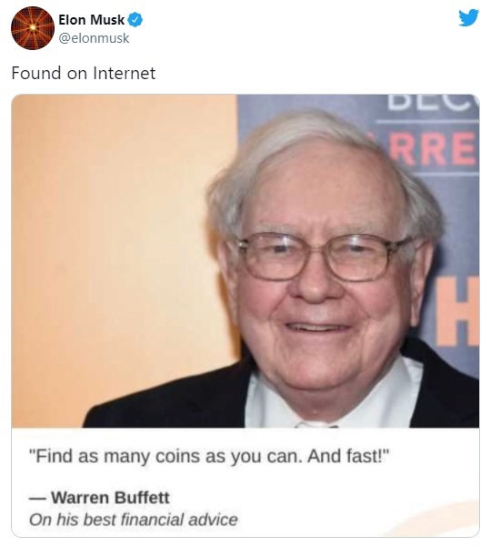 Musk Trolls Buffett With Fake Quote on Twitter, Then Deletes It