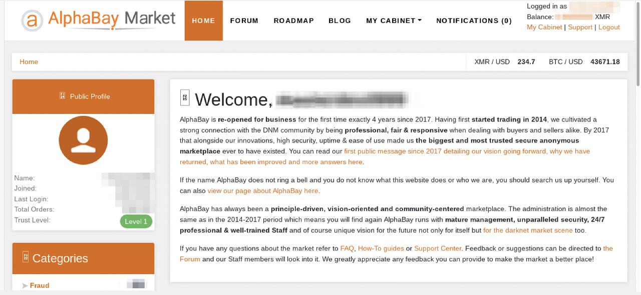 Deep Web Confusion: el administrador de Alphabay 'Desnake' dice que el mercado de Darknet está de vuelta