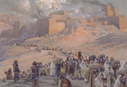 Image result for Picture of people being taken into exile