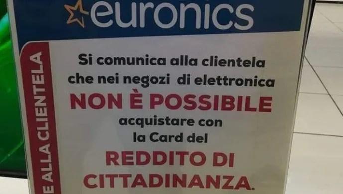 La Storia Di Euronics Che Non Accetta La Card Per Il Reddito