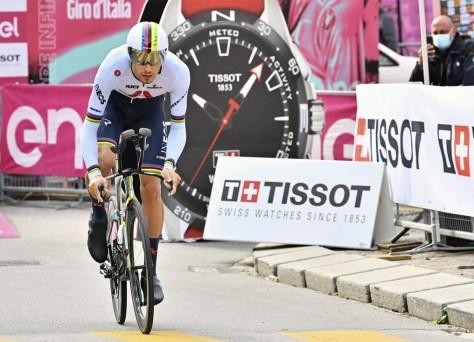 RESULTADO ESTÁGIO 14 GIRO.  Filippo Ganna arrasa no segundo contra-relógio, João Almeida mais firme na cor rosa