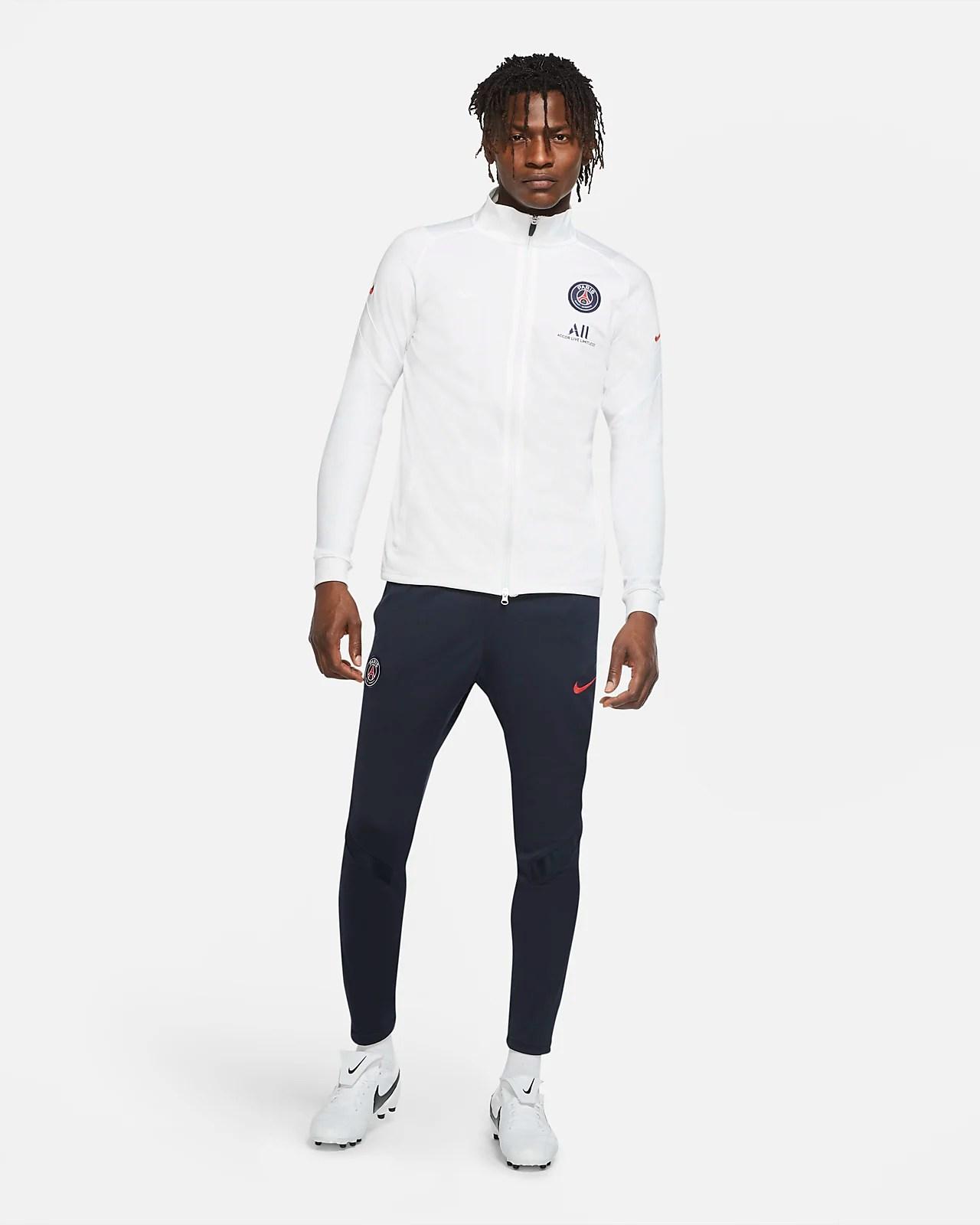 paris saint germain strike fussball trainingsanzug aus strickmaterial fur herren