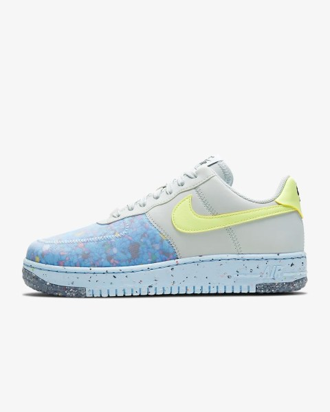 Women's Nike Air Force 1 Crater 'Chambray / Volt' .97 Free Shipping