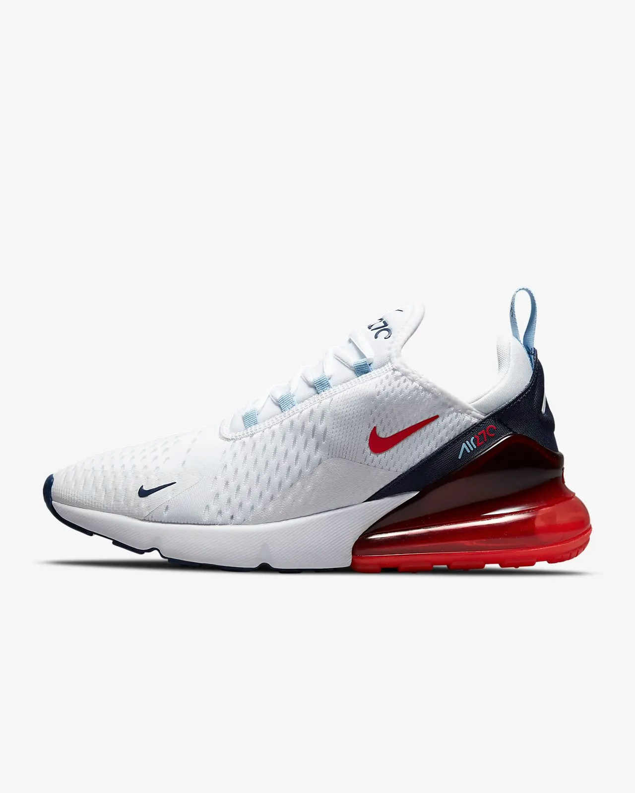 Nike Air Max 270 'White /Chile Red'