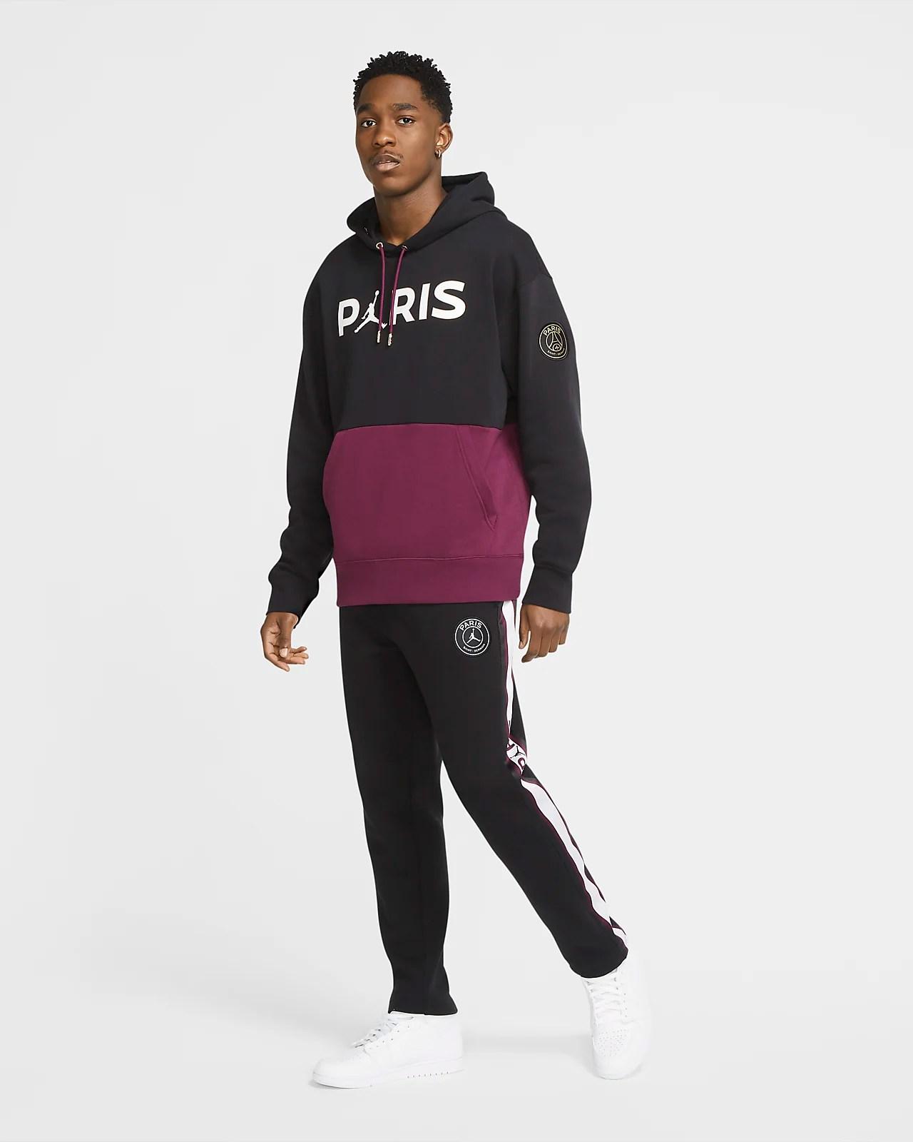 paris saint germain men s fleece pullover hoodie