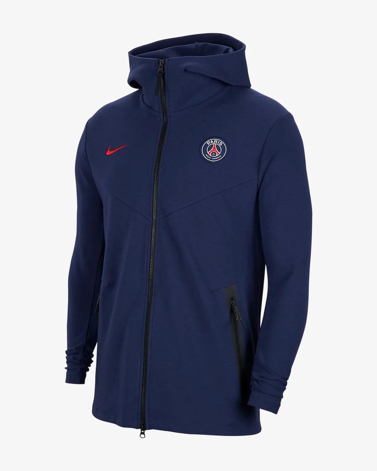 paris saint germain tech pack herren hoodie mit durchgehendem reissverschluss