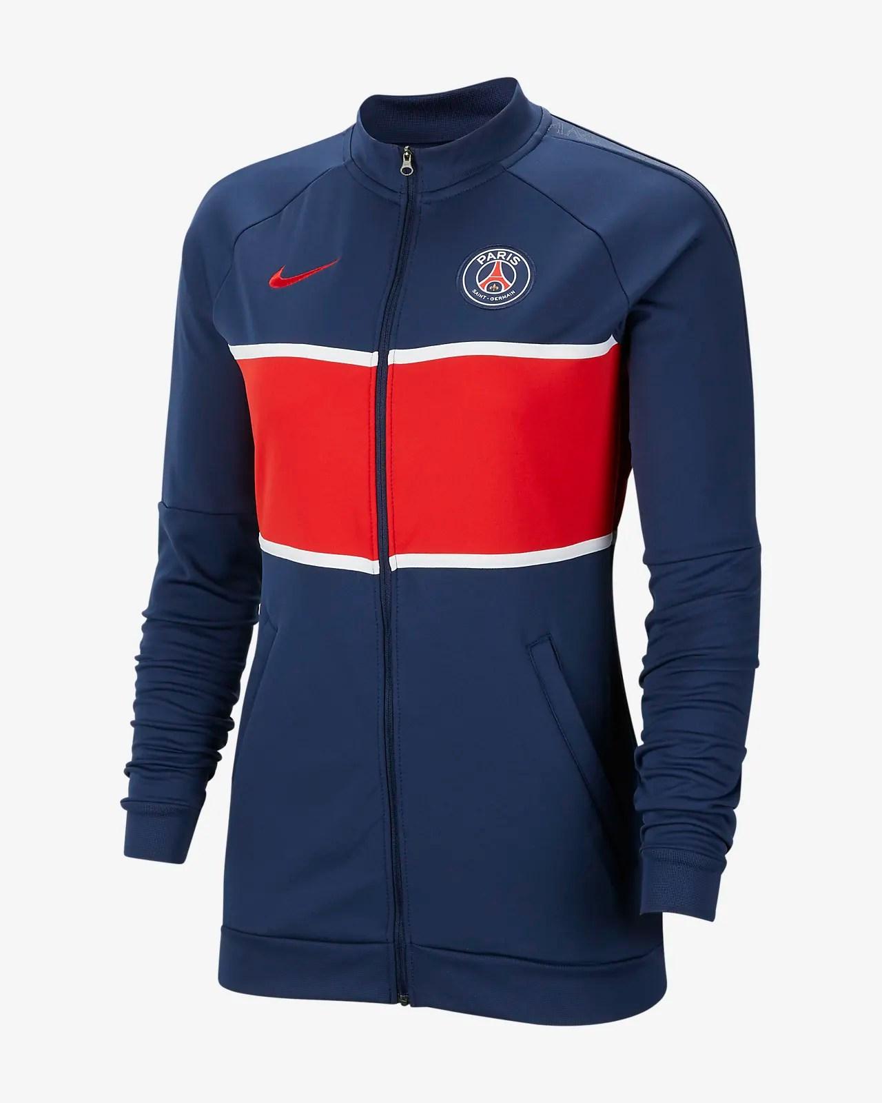 paris saint germain fussball track jacket fur damen