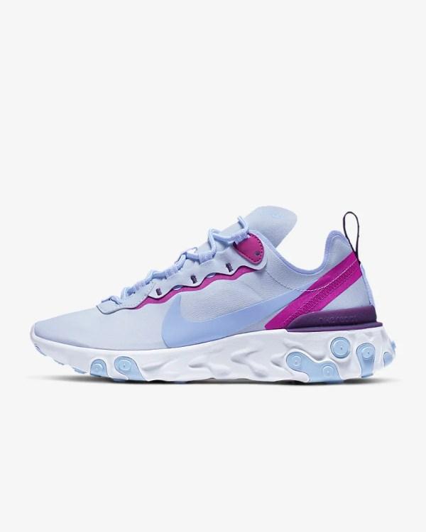 Women's Nike React Element 55 'Grand Purple' .97 Free Shipping