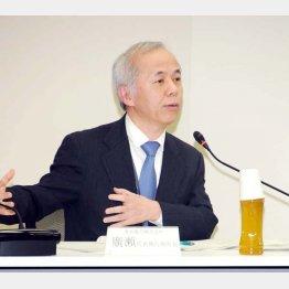 枝野氏は法的措置も検討(写真は東電の広瀬社長)/(C)日刊ゲンダイ