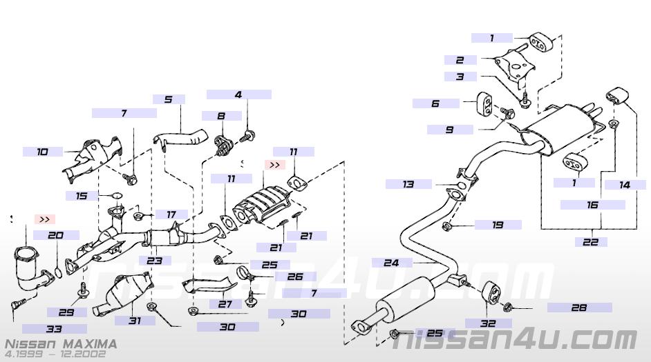 Nissan Maxima Exhaust System Diagram