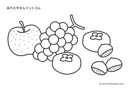 カテゴリ「秋」の塗り絵 - ぬりえやさんドットコム