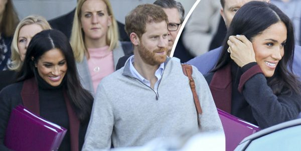Pregnant Meghan Markle spotted HOURS before baby ...