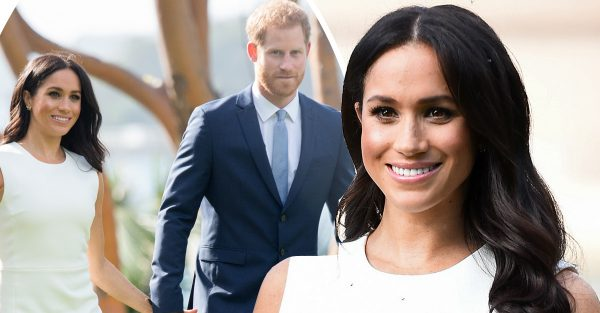 Meghan Markle flaunts baby bump for FIRST time since ...