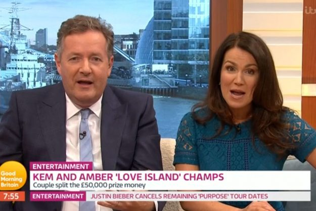 Piers Morgan slammed for picking on Love Island winner Amber Davies' sister Jade