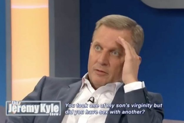 The Jeremy Kyle Show: Jeremy Kyle threw a guest off the stage after a furious rant on Monday morning