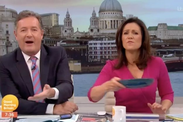 Good Morning Britain: Susanna took away the presenter's toast after he was caught eating it TWICE