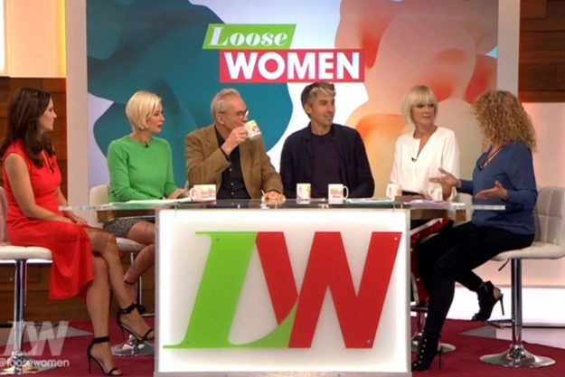 Loose Women: The father and son duo appeared on the show to promote their new show Britain By Bike