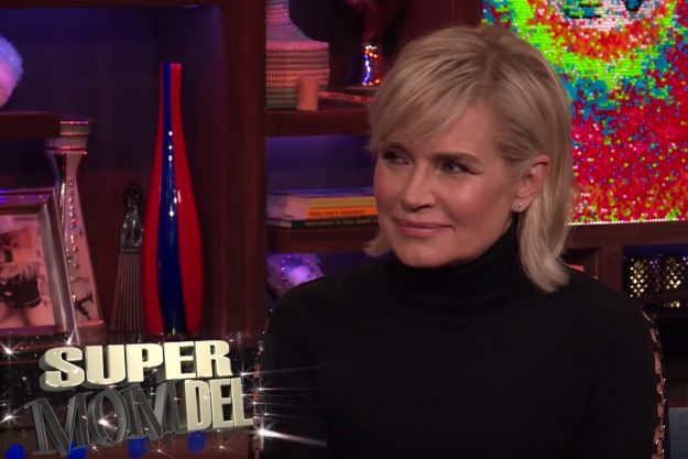 Yolanda Hadid squirmed when quizzed about her daughter's reported new relationship