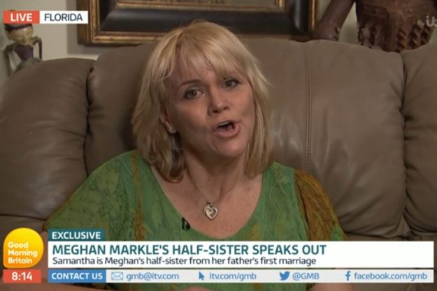Good Morning Britain: Meghan Markle's half-sister Samantha Grant has opened up about the Prince Harry engagement rumours