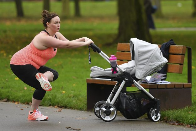 Chanelle Hayes was spotted working out in the park with her baby