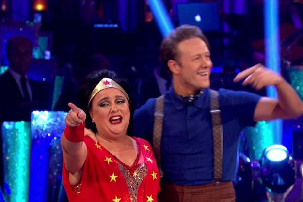 Susan Calman and Kevin Clifton perform on Strictly Come Dancing