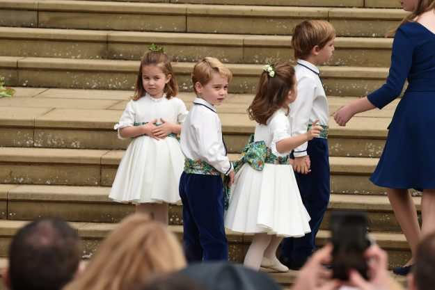 The bridesmaids and page boys wore Amaia Kids