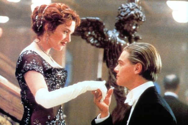 Kate Winslet offers her hand to Leonardo DiCaprio in a scene from the film 'Titanic', 1997. (Photo by 20th Century-Fox/Getty Images)