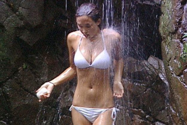 I'm A Celebrity: Myleene Klass became famous for her white bikini for the shower