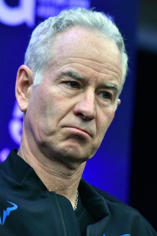 John McEnroe looking angry