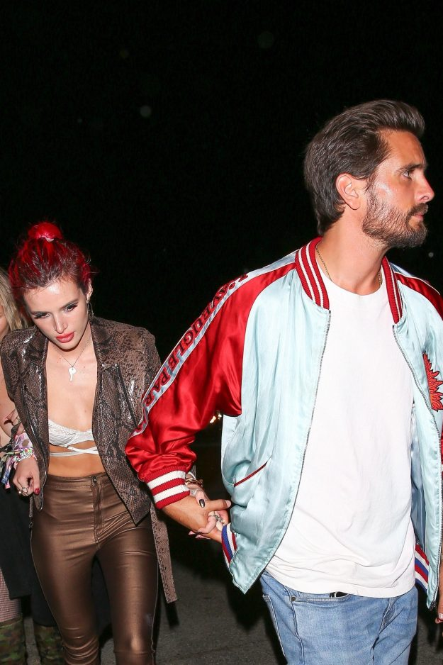 Scott Disick and Bella Thorne were pictured holding hands in West Hollywood just a month after their disastrous Cannes holiday