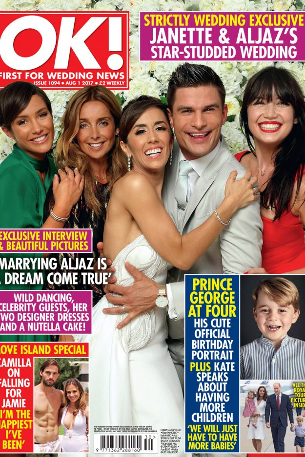 Janette Manrara and Aljaž Skorjanec exclusively revealed all of the details of their wedding day in OK! Magazine