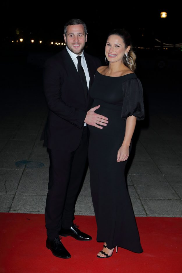 Sam Faiers beamed as she posed alongside her other half
