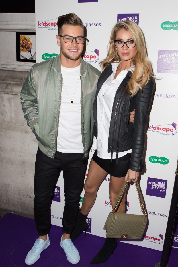 Celebrity arrivals for the Specsavers' Spectacle Wearer of the Year 2017 – Olivia Attwood Chris Hughes