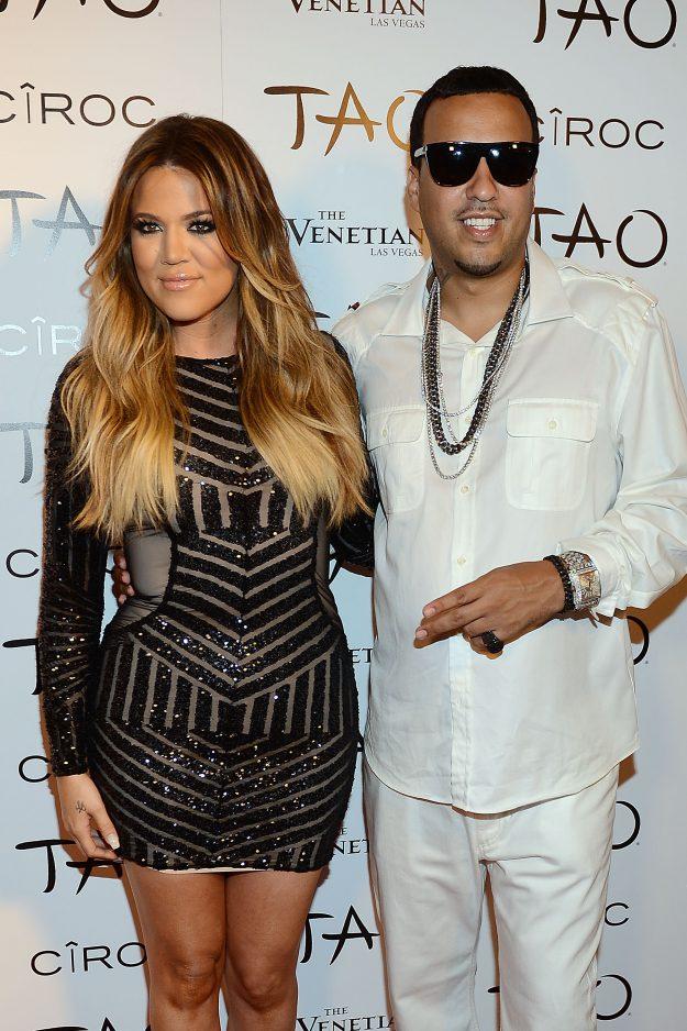 LAS VEGAS, NV - JULY 04: Khloe Kardashian and French Montana arrives at Khloe Kardashian's 30th birthday party at TAO Nightclub on July 4, 2014 in La