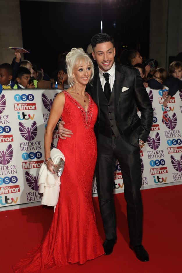 Giovanni Pernice and Debbie McGee at Pride Of Britain Awards