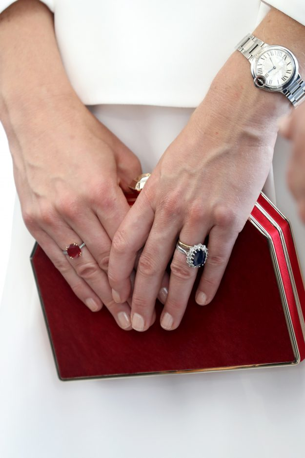 Kate Middleton Wears A Welsh Gold Wedding Band Alongside Her Famous Blue Sapphire Engagement Ring