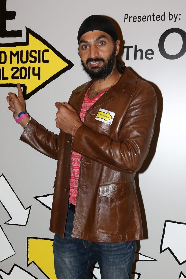 LONDON, ENGLAND - APRIL 24: Cricketer Monty Panesar attends the Big Sundance London Party to kick off the Sundance London Film and Music Festival 2014 at The Langham Hotel on April 24, 2014 in London, England. (Photo by Tim P. Whitby/Getty Images for Sundance London)