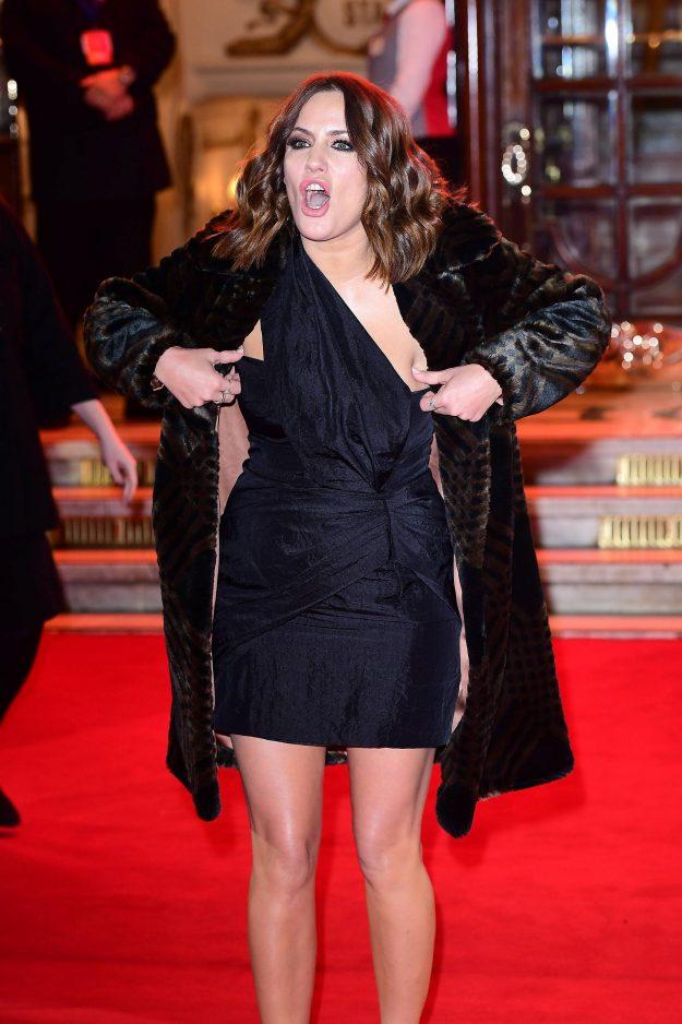 Caroline Flack attending the ITV Gala held at the London Palladium. Picture date: Thursday November 9, 2017. See PA story SHOWBIZ ITV. Photo credit sh