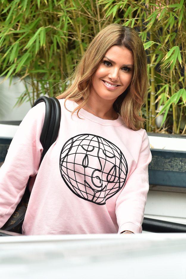 Rebekah Vardy smiles at ITV studios