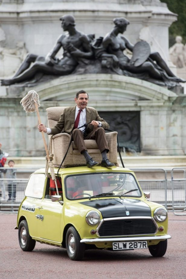 Rowan in his most famous character, Mr. Bean