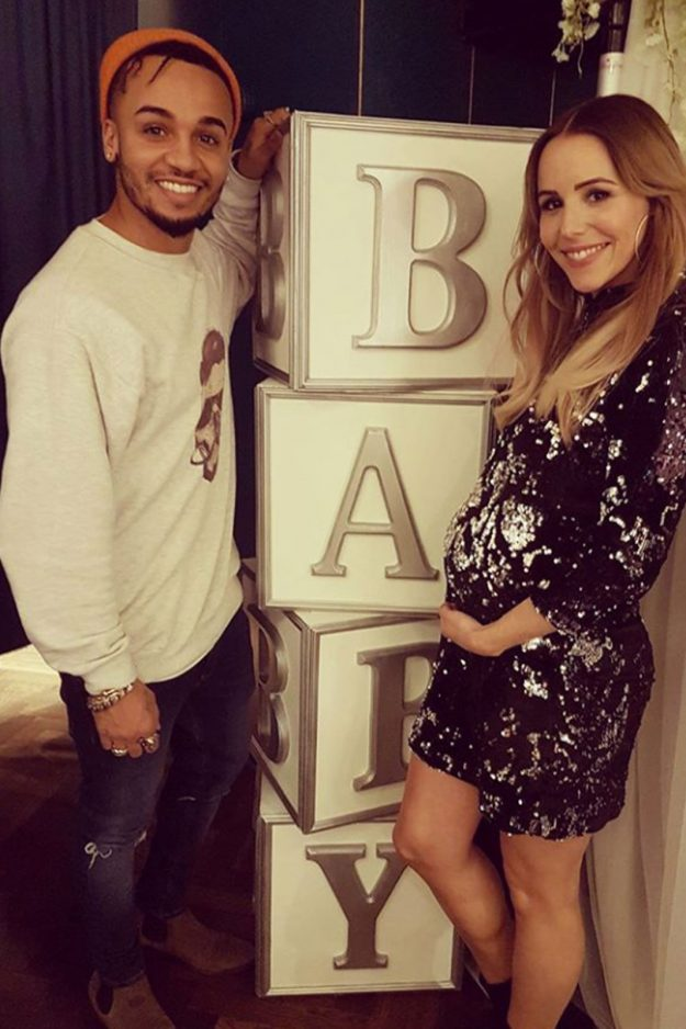 Aston Merrygold and Sarah Richards are expecting their first child in January 2018