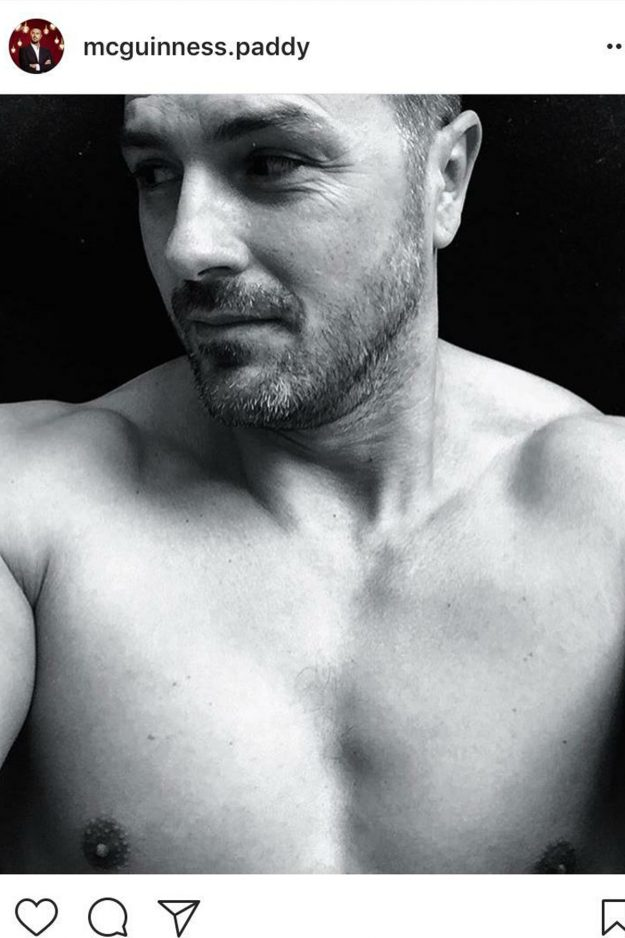 Paddy McGuiness posed topless on Instagram attracting another like from Nicole Appleton