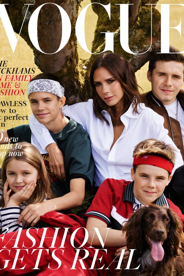 Victoria Beckham featured on the cover of Vogue
