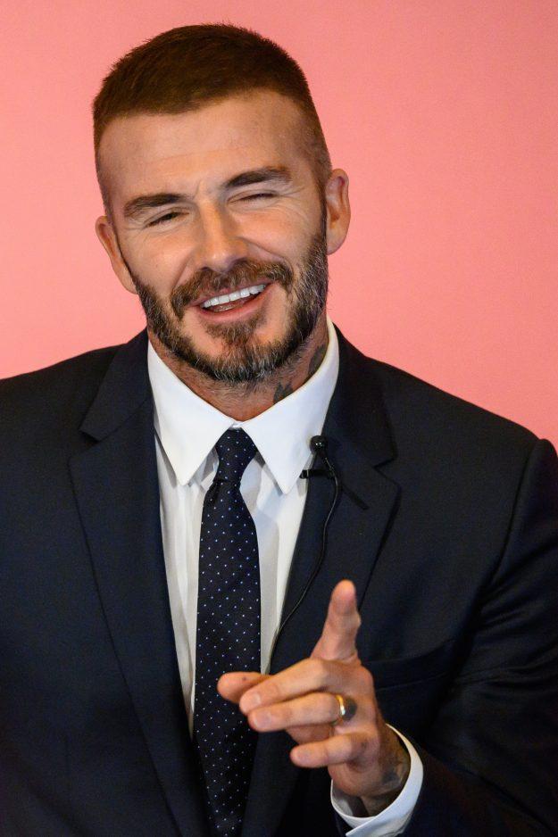 David Beckham Sports BOLD New Look As He Wears Teal