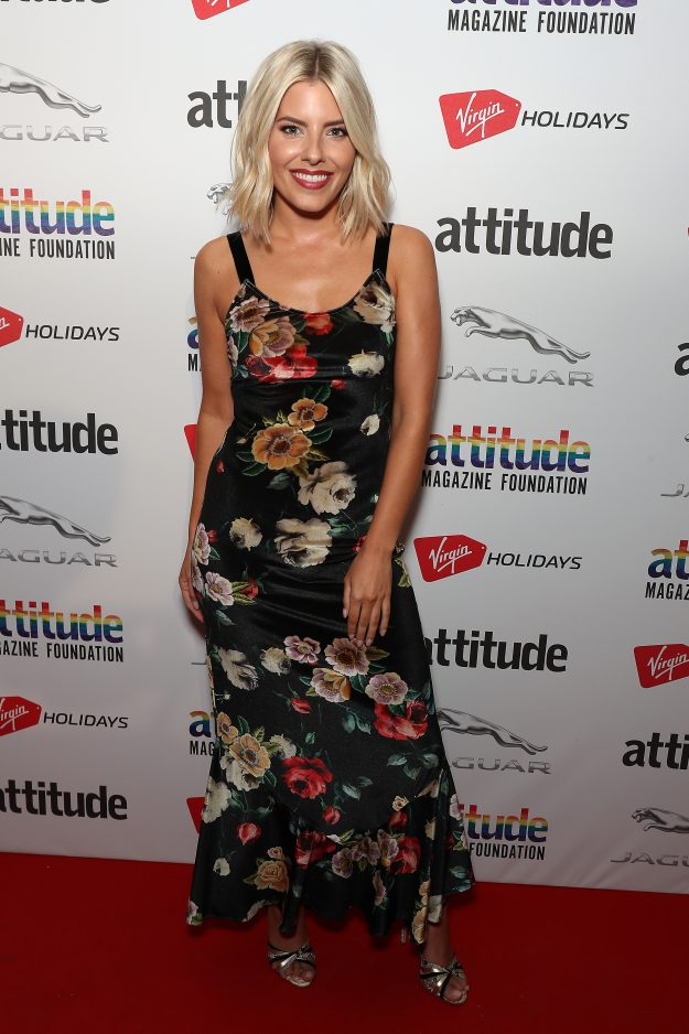 LONDON, ENGLAND - OCTOBER 11:  Mollie King attends The Virgin Holidays Attitude Awards at The Roundhouse on October 11, 2018 in London, England.  (Photo by Neil Mockford/WireImage)