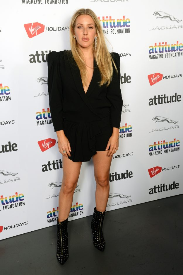 LONDON, ENGLAND - OCTOBER 11:  Ellie Goulding poses in the winner's room at The Virgin Holidays Attitude Awards at The Roundhouse on October 11, 2018 in London, England.  (Photo by Dave J Hogan/Dave J Hogan/Getty Images)