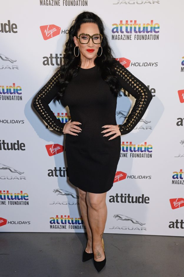 LONDON, ENGLAND - OCTOBER 11:   Michelle Visage poses in the winners room at The Virgin Holidays Attitude Awards at The Roundhouse on October 11, 2018 in London, England.  (Photo by David M. Benett/Dave Benett/Getty Images)