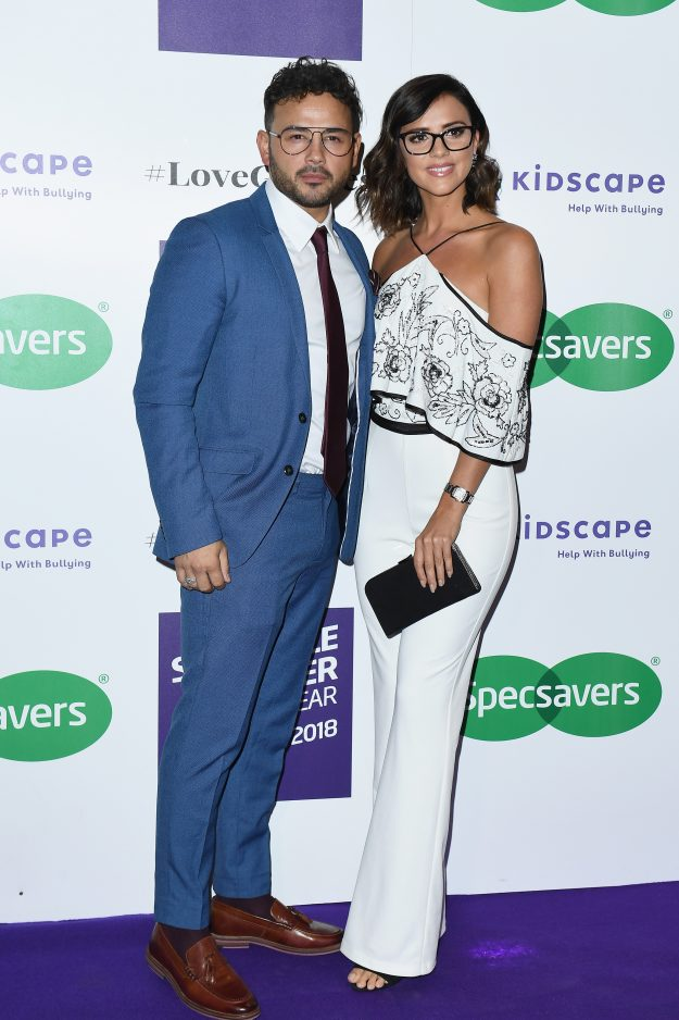 Ryan Thomas and Lucy Mecklenburgh attend the Specsavers 'Spectacle Wearer Of The Year'